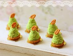 green tea food | Catalog > Miniature Dollhouse Food - Green Tea Mont Blanc Dessert in 1 ...