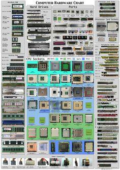 Infographic - Computer Hardware Chart