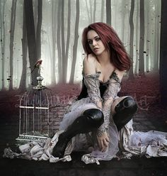 Gothic fantasy artGothic fantasy by EnchantedWhispersArt on Etsy