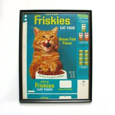 Fab.com   Eccentric Eclectic Vintage  ~ framed vintage catfood box worth a small fortune!