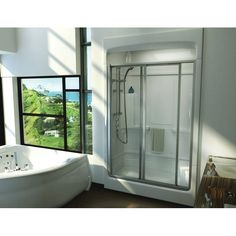 View The Kohler K 1688 Sonata 5u0027 One Piece Shower Module With Integral  High Dome Ceiling, Less Grab Bar Kit At FaucetDirect.com.