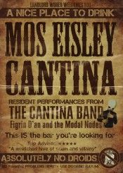 Cantina Mos Eisley Bar inspired poster art print A2 /& A3 available