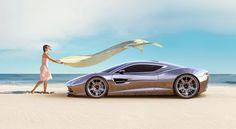 Beautiful Aston Martin DBC concept rendering by Samir Sadikhov recent hire to the #Genesis team