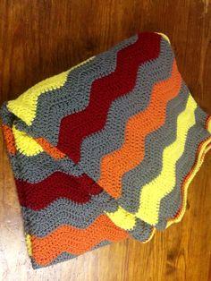 Ganchillo manta de ondulación manta ganchillo por StitchesbyMegan