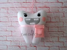 Tooth Fairy Pillow Pouch can be Personalized by LittleDollCloset
