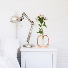 Fresh flowers can lend a lease of life to just about any place. Your home which is your special place … Flower Vases, Flowers, Copper Color, Beautiful Gift Boxes, Floating Nightstand, Night Stand, Mirror, Table, Instagram Posts