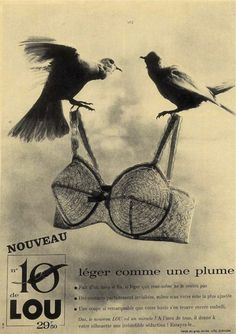 .love it!!  old ad for Noveau Bra .... birds know beauty