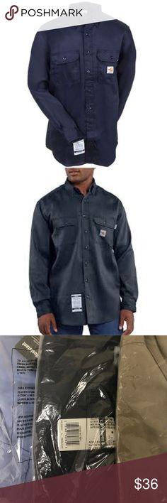 1ab4f5889871 Carhartt Men s Fire Resistant Twill Shirt FRS003 Carhartt Men s Fire  Resistant Twill Shirt FRS003 - Fire
