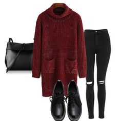 Cozy & comfy red sweater dress. SKU: dress151230007 Use inst33 for 33% off on shein.com! #inst33 #shein