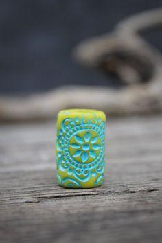 Mandala dread beads dreadlock accessories by Lelandjewelry on Etsy