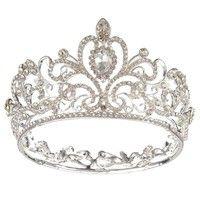 Wedding Bridal gold plated Crystal Rhinestone Pageant Tiara Crown Party Headb R1