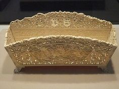 Cultural artifacts from the 1st - 19th century ~ Ivory letter holder