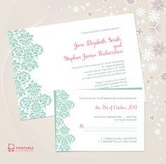 PRINTABLE WEDDING INVITES