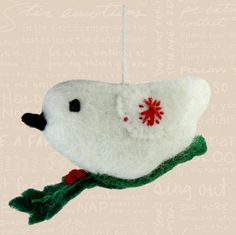 2013 Fair Trade Holly Bird Ornament from Caribou Coffee