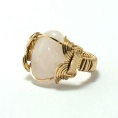 Rose Quartz Ring. #ring #style #jewelry  9thelm.com