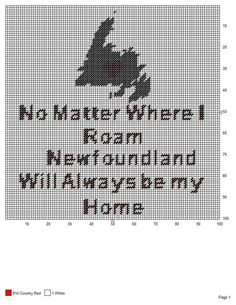 Pattern Sewing, Knitting Patterns Free, Crochet Patterns, Cross Stitch Embroidery, Cross Stitch Patterns, Quilt Patterns, Newfoundland Map, Applique, Canvas Quotes