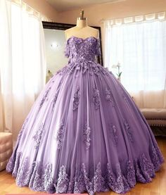 Off Shoulder Embroidered Lace Quinceanera Dresses Ball Gowns – Phylliscouture Source by dresses idea Ball Gowns Prom, Ball Dresses, 15 Dresses, Pretty Dresses, Beautiful Dresses, Pageant Dresses, Royal Ball Gowns, Modest Dresses, Fashion Dresses