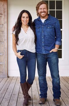 This New Home and Lifestyle Brand by Chip and Joanna Gaines is Only at Target 9/12/17 Chip and Joanna standing together in front of a house