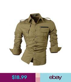 Casual Shirts Jeansian Men's Long Sleeves Slim Fit Dress Shirts Casual Hombre Camisas 8371 #ebay #Fashion