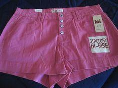 L.E.I. Junior hot pink short shorts Szie 15 NWT #lei #MiniShortShorts