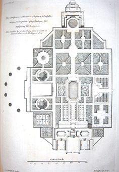 Wilton House, Plan Of The Gardens