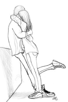 Describe what you feel and see in this drawing: Love is the main thing. Also, the gentle peacefulness you get when being with THE one.
