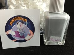 Name: Ground Control to Major Yeti  Description: This is the original prototype, made in the bottle for the upcoming polish for the space collection (February 2016) It's a grey near white with blue shimmer and holographic pigment. This set also features the Yeti in space stickers that will be given out with the polish at launch.