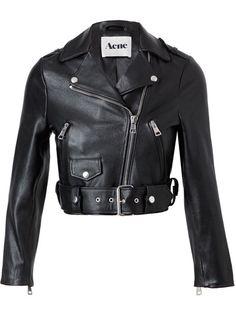"""Acne - """"Mape"""" Leather Motorcycle Jacket"""