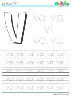 sílabas con v