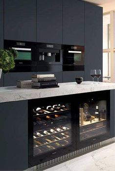 black kitchen units interior design & modern kitchen countertops quartz granite & & black kitchen units interior design & modern kitchen countertops quartz granite & small wine storag & Source by The post black kitchen units interior design Outdoor Kitchen Design, Modern Kitchen Design, Home Decor Kitchen, Modern Interior Design, Home Design, Kitchen Interior, Kitchen Ideas, Kitchen Designs, Design Ideas