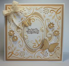 Crafter's Companion Enchanted Create a Card die. Cordination Card. Centura Pearl Card.