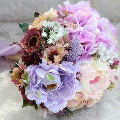 [AU$ 30.00] Gorgeous Round Satin Bridal Bouquets/Bridesmaid Bouquets (123080411)