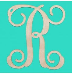12 Inch Single Initial Wood Monogram