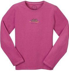 Life is good Mountain Girl Women's Long Sleeve T-Shirt $26.96