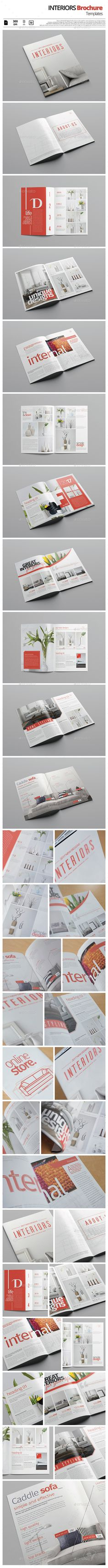 Interiors Brochure  #modern #portfolio #product • Available here → http://graphicriver.net/item/interiors-brochure/15866204?ref=pxcr                                                                                                                                                                                 More