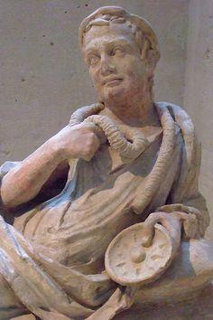 Etruscan Terracotta Sarcophagus Lid C.100BCE Louvre