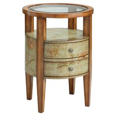 Found it at Wayfair - Round Chairside Chest with 2 Drawers
