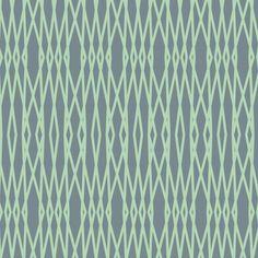 Tela 100% algodón de primera calidad deCamelot Fabrics(USA).Sobre fondo gris azulado rayas qeu se cruzan en color mint. Ancho 110 cm. Es ligera, ideal para p