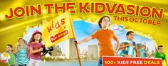 Oct. 1-31: Kids Eat, Play and Travel For Free In San Diego. See the deals that most appealed to me at http://www.digthisjive.com/deals/kids-eat-play-and-travel-for-free-in-san-diego-in-october/