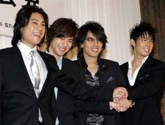Vaness Wu, Kim Joo Hyuk, Dennis Oh, Vic Chou, Jerry Yan, F4 Meteor Garden, Andy Lau, Kim Rae Won, Bi Rain