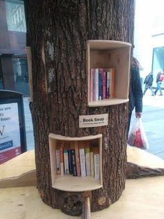 Very creative book shelf idea.