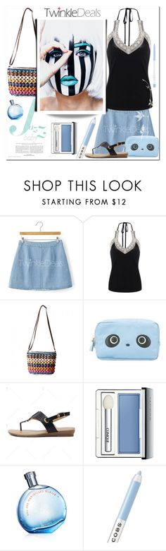 """""""Mini Skirt"""" by bellamonica ❤ liked on Polyvore featuring Anya Hindmarch, Clinique and Marc Jacobs"""