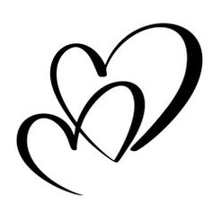 """love"" Stock Photos and Royalty Free Images, Vectors, and Illustrations - Joined heart template - Mini Tattoos, Body Art Tattoos, Tatoos, Small Heart Tattoos, Heart Tattoo Designs, Herz Tattoo Klein, Calligraphy Heart, Valentines Day Drawing, Gravure Laser"