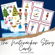 Nutcracker Activity Pack with Story Cards Brain Builders, Creative Thinking, Writing Prompts, School Supplies, Card Stock, Packing, Activities, Owl, Cards