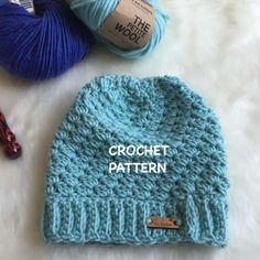 Townsend Crochet Beanie Pattern http://www.144stitches.com/crochet-hat-patterns/townsend-beanie-crochet-pattern