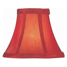 Candle shade in antique red silk red lamp shades dining ideas lite source 6 in wide base chandelier candelabra shade ch593 6 aloadofball Images
