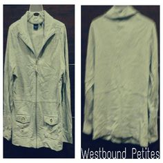 Ladies lightweight jacket Lightweight  / zip up / front pockets  / collar /100% cotton Westbound petites Jackets & Coats