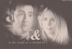 The Doctor and Rose Tyler in the Tardis, as it should be