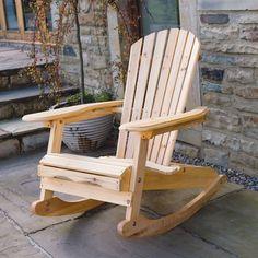 Wooden Garden Chair Rocking Rocker Solid Wood Relaxer Outdoor Garden Patio Seat | eBay