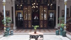 more of the interior of cheong fatt tze mansion - the blue mansion - in adelaide's twin city of george town in malaysia